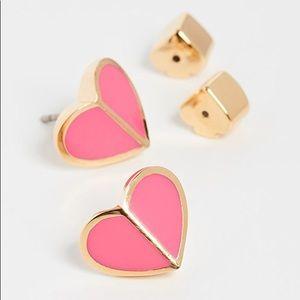 Kate Spade Heart Stud Earrings Pink